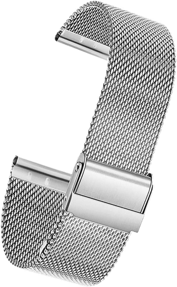 smaate Mesh Watch Band ONLY for ID205L VeryFitPro smartwatch and ID205 ID205G ID205S ID215G ID216 as Replacement, Stainless Steel, Milanese strap for Women, Quick Release, 205MM4S Silver: Clothing