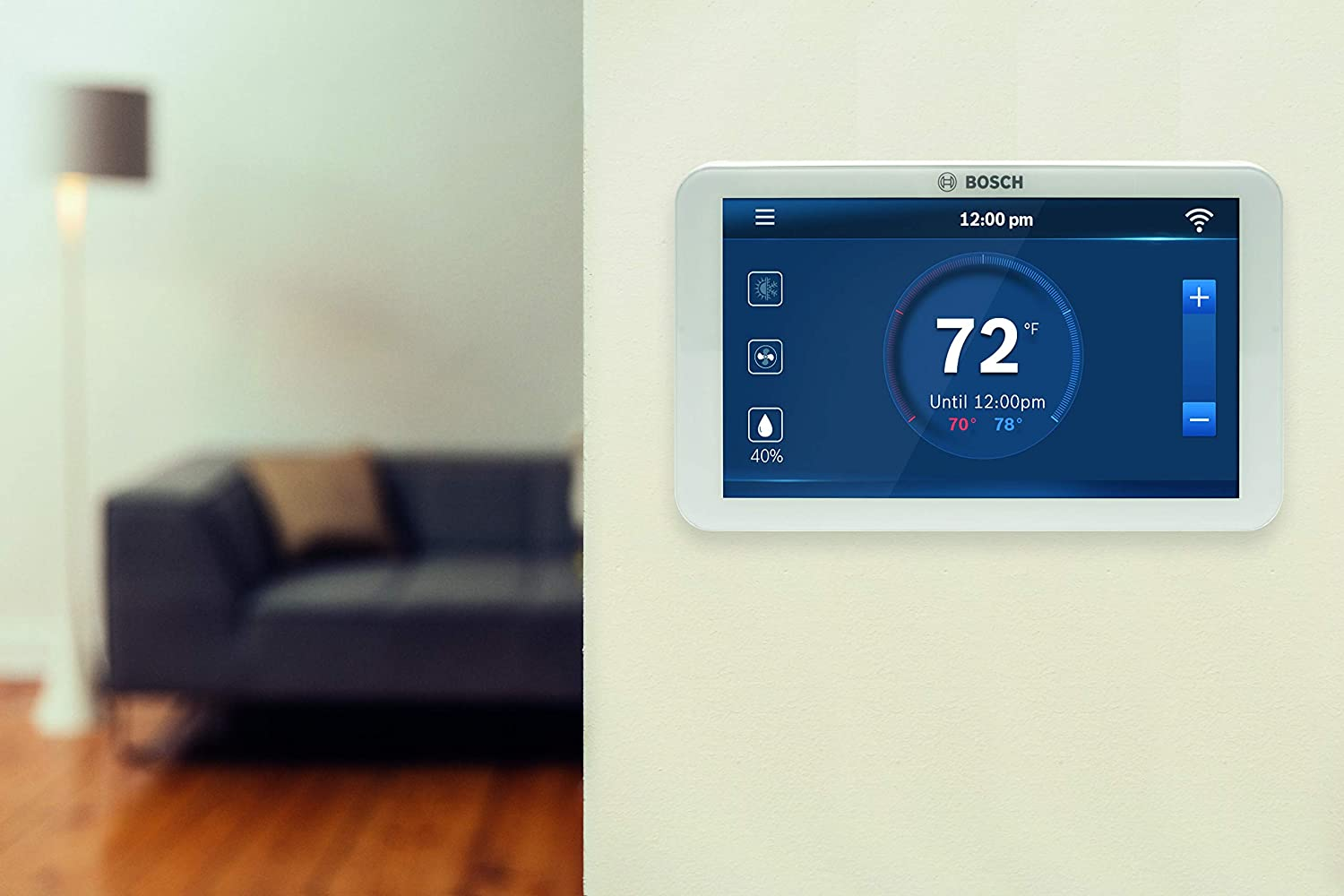 Bosch Bcc100 Connected Control Smart Phone Wi Fi Thermostat Honeywell Vfd Manual Compatible With Alexa Touch Screen