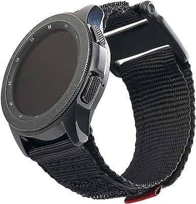 Urban Armor Gear Active Strap Correa Samsung Galaxy Watch3 45mm, Watch 46 mm, Gear S3 Frontier & Classic, Watch Active 2 44 mm (Diseñado para Samsung Smartwatches, Correa reemplazable) - negro: Amazon.es: Electrónica