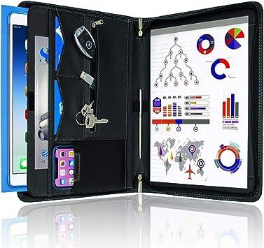 STYLIO Zippered Padfolio Portfolio Binder, Interview Resume Document Organizer. Binder Organizer For iPad/Tablet (up to 10.1