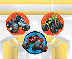 Amscan 291582 Blaze and the Monster Machines Honeycomb Decorations, 3 pcs, Party Favor