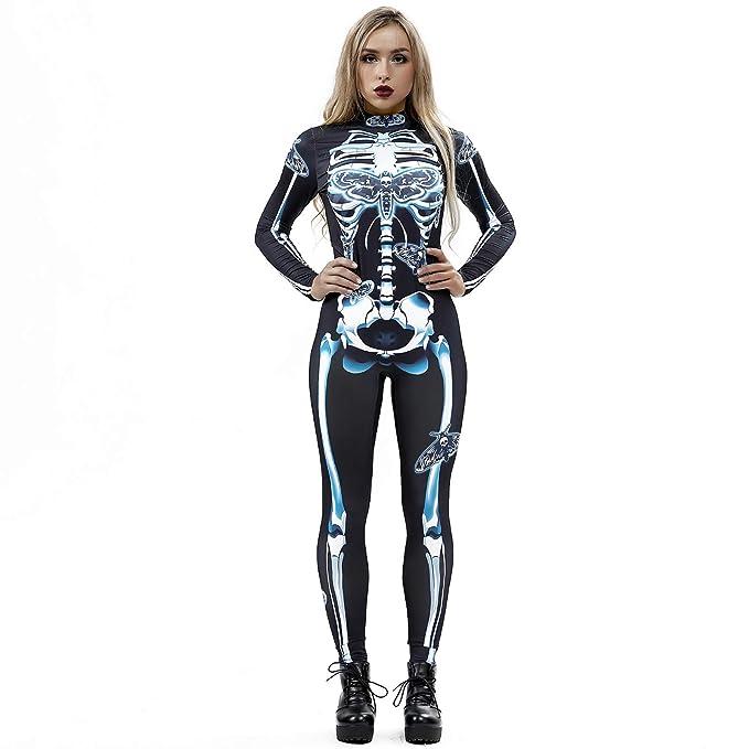 Amazon.com: Womens Halloween Jumpsuit KpopBaby Sexy Bone Rose Print Sling Slim Playsuit Trouser Costumes: Clothing