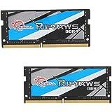 G.SKILL 32GB (2 x 16G) Ripjaws DDR4 PC4-25600 3200 MHz SO-DIMM 260-Pin Laptop Memory Model F4-3200C18D-32GRS