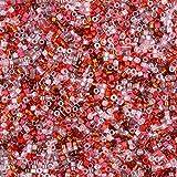 Miyuki Perles en verre Delica taille 11/0couleur fraise 7,2g