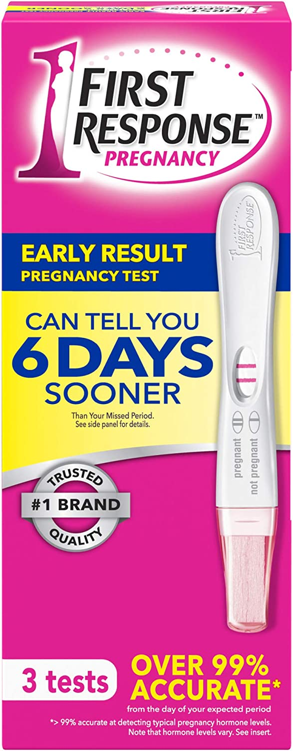 B000052XHI First Response Early Result Pregnancy Test, 3 count(Packaging & Test Design May Vary) 71PQ4P9CesL