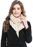 Women's Winter Soft Thick Twist Cable Knit Neck Warmer Long Scarf Shawl
