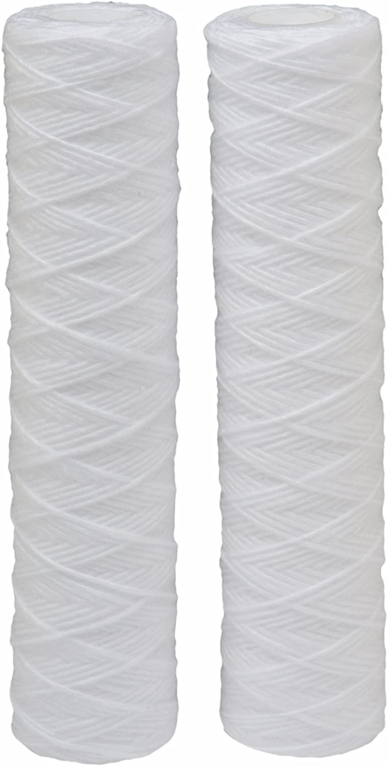 HDX HDX2SF4 String Wound Whole House Water Filter : Reduces Sediment 10 Micron Water Filter 2 pack