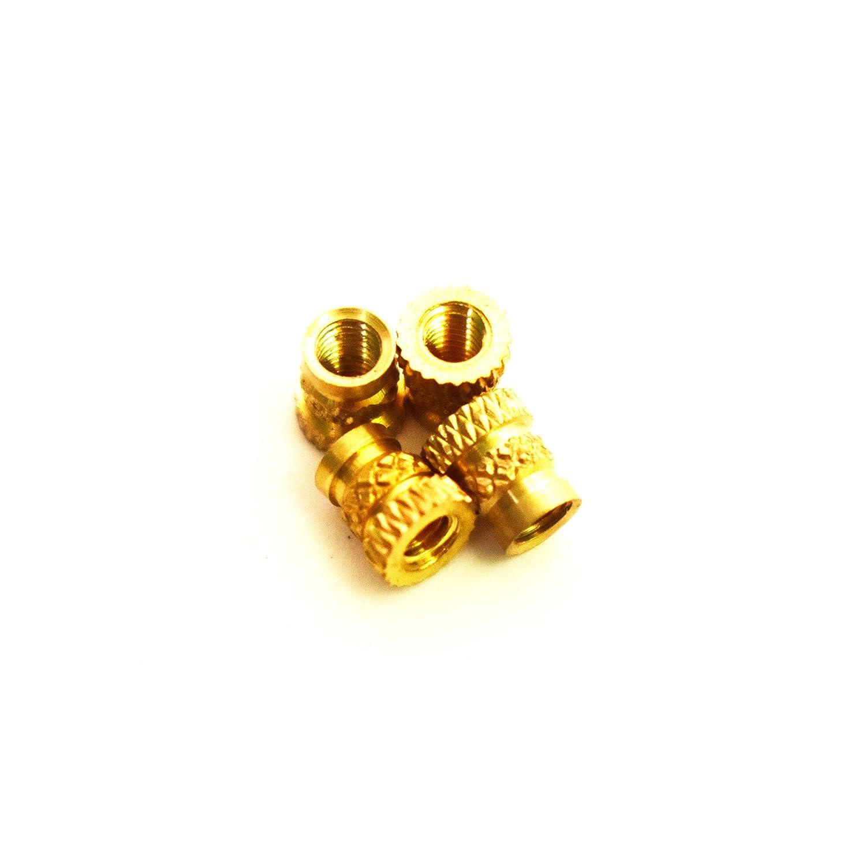 5.7 mm Length Female M3 Thread 5 mm OD Heat Sink or Injection Molding Insert,100pcs M3 Brass Insert 100pcs J/&J Products