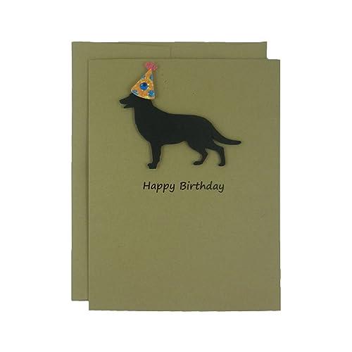 Amazon German Shepherd Birthday Cards Handmade Black Dog