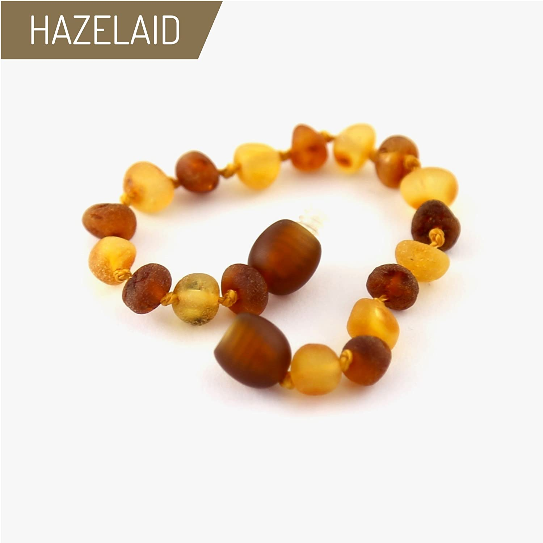 5.5 Baltic Amber Nutmeg & Lemondrop Bracelet Hazelaid