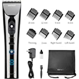 WONER Hair Clippers for Men Professional Cordless Rechargeable Hair Trimmers Hair Cutting Kit Titanium Ceramic Blade LED Display 2000mAh Lithium Ion