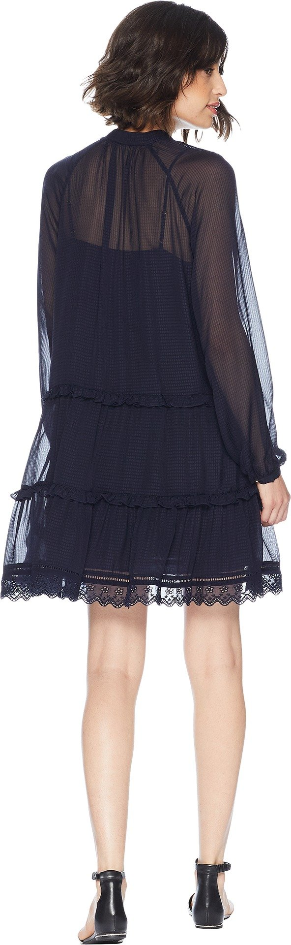 Juicy Couture Women's Seersucker Embroidered Trim Dress Zenith Petite/X-Small by Juicy Couture (Image #3)