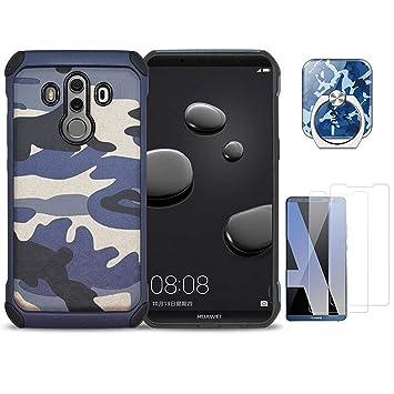 97e1b061e63 VELLYOU 3-en-1 Funda Huawei P20 Lite Camuflaje, Anillo Soporte del Teléfono