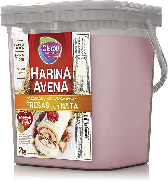 Harina de avena - 2Kg - Sabor Fresa con nata