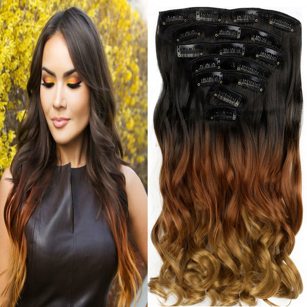 Neverland Extensions Cheveux Clips Naturel Ombre Hair Extensions Perruques Postiches NEVERLAND Beauty & Health