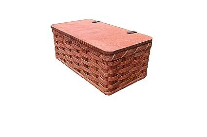 Amazon.com: Buzón de correo Amish tejida a mano cesta ...