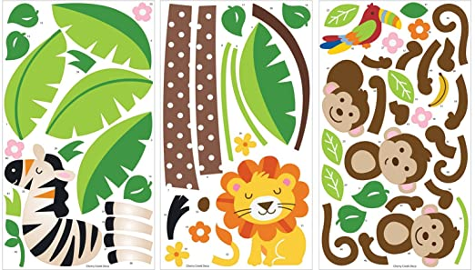 Stickers are Numbered for Easy Assembly, Three 17 x 30-inch Sheets