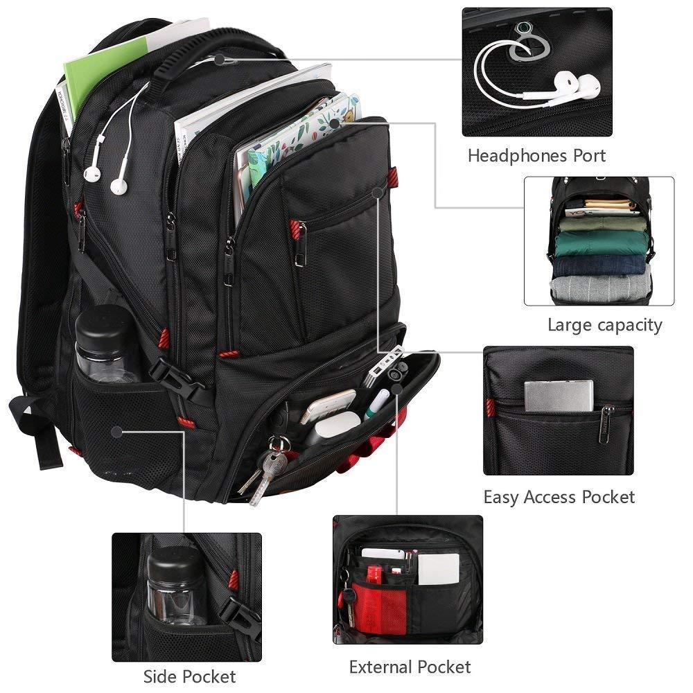 c056d60e30caa ... Mancro Laptop-Rucksack mit groß er Kapazitä t fü r Geschä ftsreisen mit  USB- ...