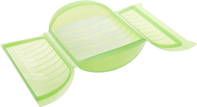 Compra Lékué Estuche de Vapor c/Bandeja para el microondas, Color Verde con una Capacidad de 1400 ml (3-4 Personas) en Amazon.es