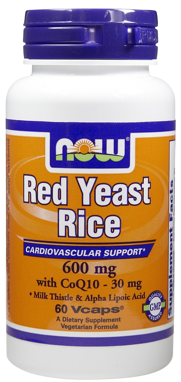 RED YEAST RICE & COQ10 FORMULA, 60 Vcaps by Now Foods (Pack of 6)