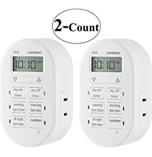 My touchsmart indoor plug in digital timer 26892 amazon 2 packs of ge mytouchsmart indoor plug in digital timer 26892 2 packs sciox Images