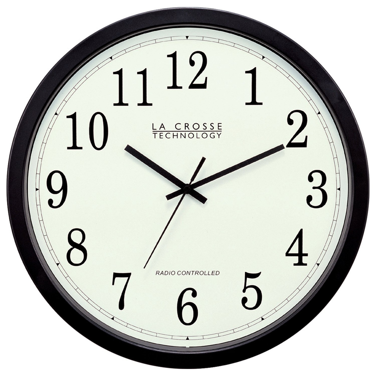 Outdoor Clocks & Thermometers 14in Atomic Analog Clock