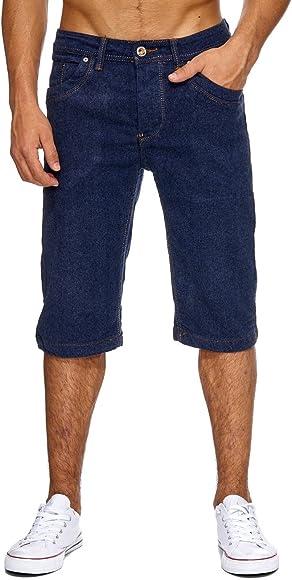 Pantalones cortos de mezclilla para hombre Bermuda Short Capri 100 ...