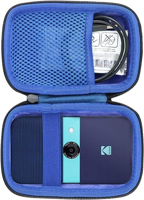 co2CREA Duro Viajar Caja Estuche Funda para Kodak Smile Cámara Digital de impresión instantánea(Caja Solo)(Negro Externo, Azul Interior): Amazon.es: Electrónica