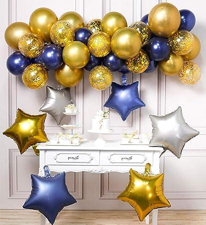 Amazon.com: LAttLiv Globo de cumpleaños 46 piezas látex ...