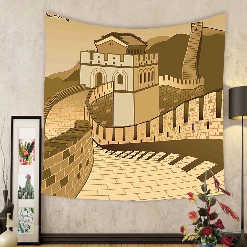 Amazon.com: Gzhihine Custom tapestry Asian Decor Tapestry Great Wall ...