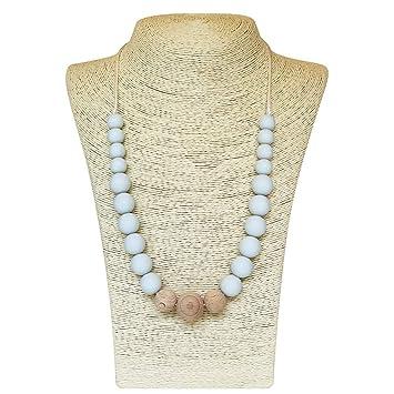 Amazon.com: Collar de dentición de silicona para mamá a ...