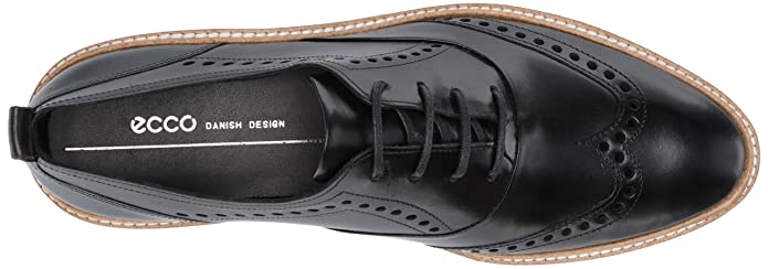 370e2e866be6d Amazon.com | ECCO Women's Incise Tailored Wing Tip Oxford Flat | Oxfords