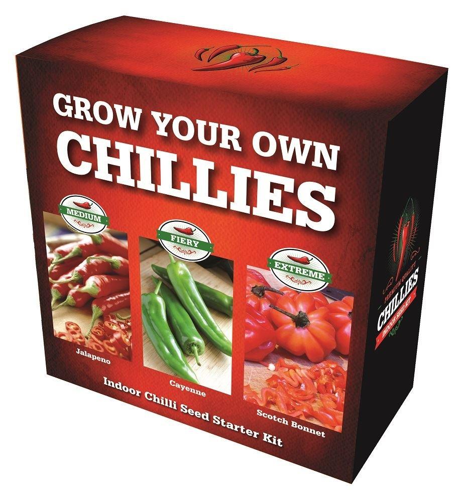 Chilli growing kit. Jalapeno, Cayenne and Scotch Bonnet chillies Perfect Plants