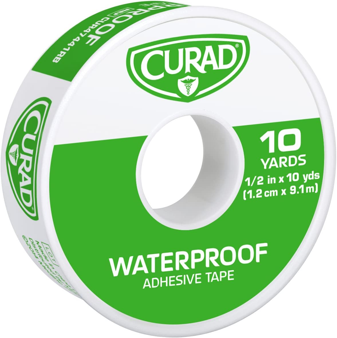 Curad Waterproof Adhesive Tape, 1/2 inch x 10 yards (Pack of 6): Health & Personal Care