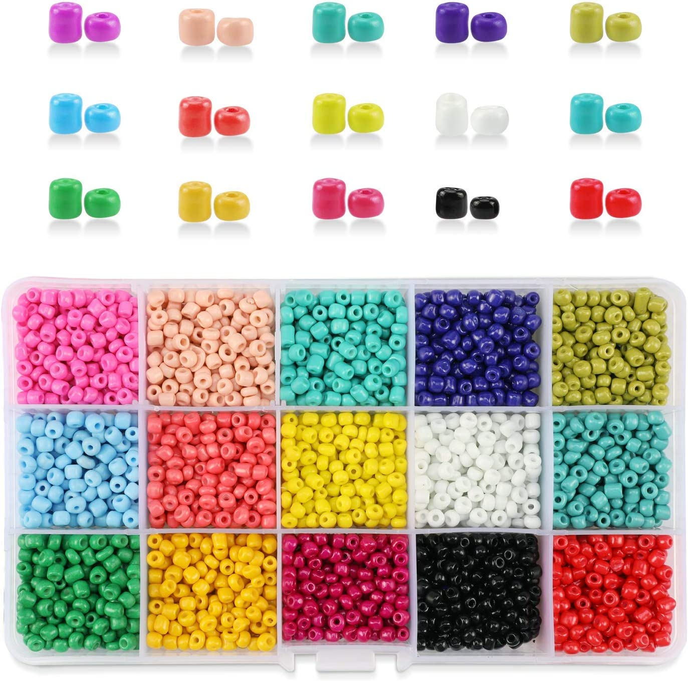 Mixed Colors Small Pony Beads Assorted Kit Mul Phogary 3500Pcs Glass Seed Beads