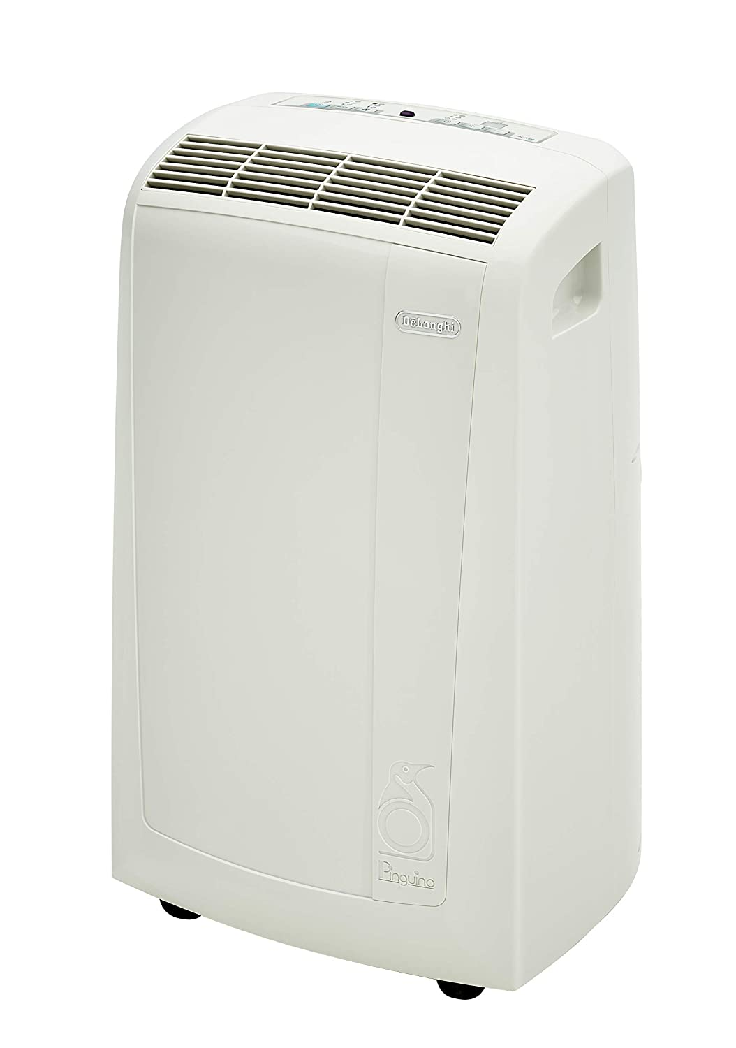 DeLonghi Pinguino 3-in-1 Portable Air Conditioner, Dehumidifier & Fan with Remote Control & Wheels, 400 sq. ft, Medium Room, White