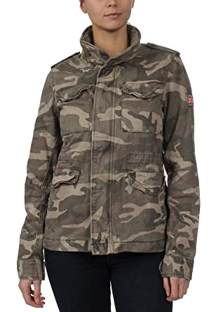 new product 221c6 f4e1f Superdry Jacke Damen ROOKIE CLASSIC MILITARY JACKET Antique ...