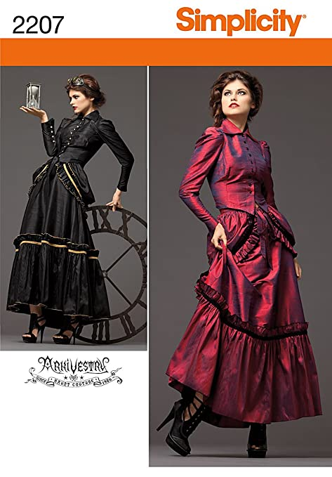 Steampunk Sewing Patterns- Dresses, Coats, Plus Sizes, Men's Patterns Steampunk Dress Pattern $7.00 AT vintagedancer.com