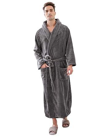 346bb9c9de Richie House Men s Warm and Soft Fleece Robe Bathrobe with Hood  RHM2760-A-S M
