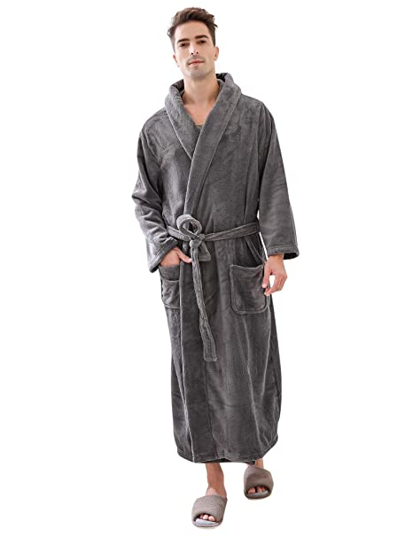 bright n colour official store really cheap Richie House Men's Warm and Soft Fleece Robe Bathrobe with Hood RHM2760