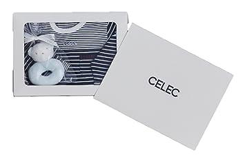 c6f642b261738 CELEC(セレク) 出産祝い 男の子 ギフトセット カバーオール ガラガラ おもちゃ ネイビー  166015G