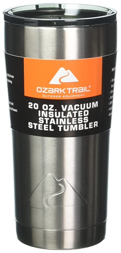 235d23ba1ec Amazon.com | Set of 2 Ozark Trail 20-Ounce Double-Wall Vacuum-Sealed  Tumblers: Tumblers & Water Glasses