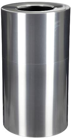 witt industries al35 clr aluminum 35 gallon decorative trash can with rigid plastic liner - Decorative Trash Cans