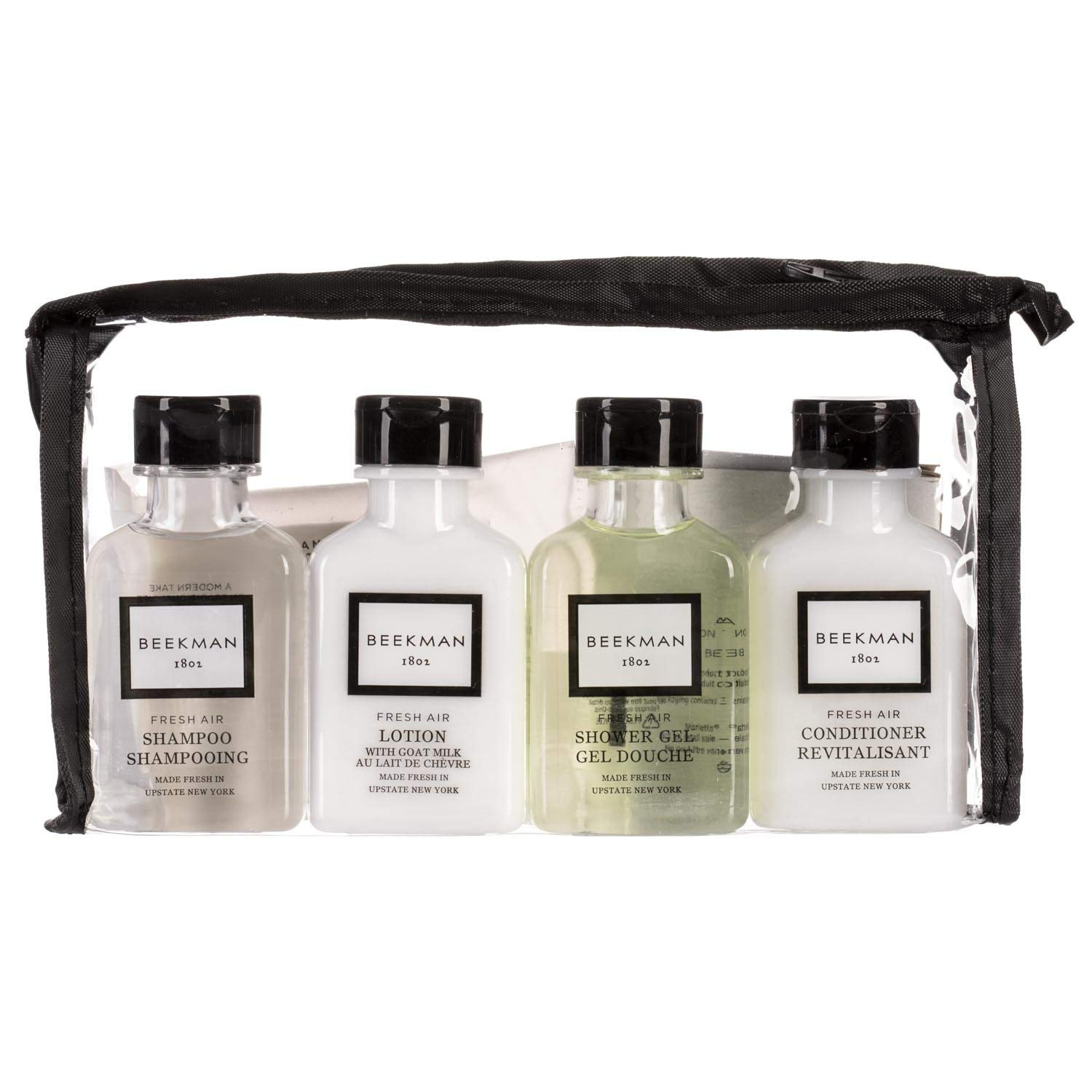 Beekman 1802 Fresh Air Goat Milk Amenity Kit - Shower Gel, Shampoo, Conditioner, Body Lotion, Face Soap And Body Soap