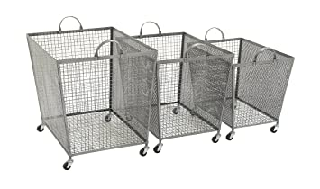 Ordinaire 3 Pc Metal Roll Storage Bin Set
