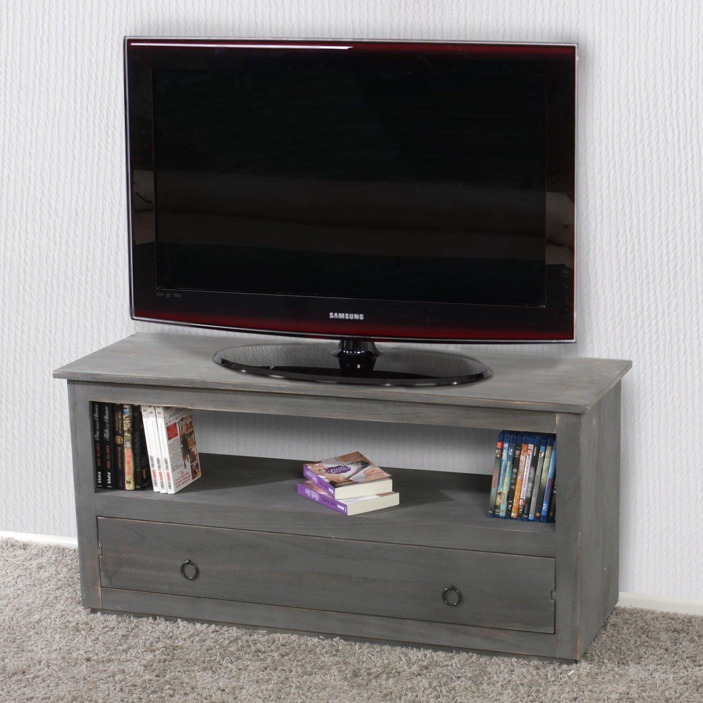 Mendler TV-Rack Fernsehtisch Lowboard TV-Regal, Shabby-Look, Vintage ...