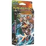 Pokemon TCG:太阳和月亮禁用光莱卡罗克主题甲板 - 收藏品交易卡套装 - 60 张卡牌,带超稀有全息海绵莱克罗,损坏计数器,金属硬币,在线代码卡