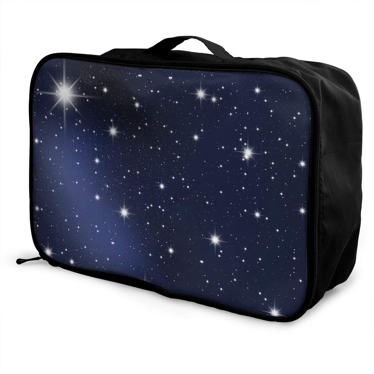 Travel Luggage Duffle Bag Lightweight Portable Handbag Starry Pattern Large Capacity Waterproof Foldable Storage Tote