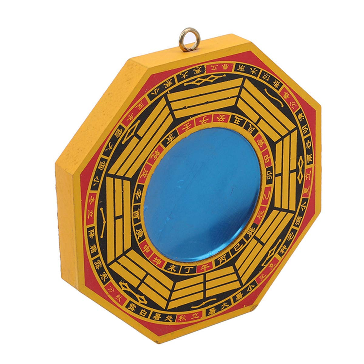 Beiswe Chinese Feng Shui Dent Convex Bagua FengShui Mirror Taoist Talisman Energy for Home Decoration Ornament