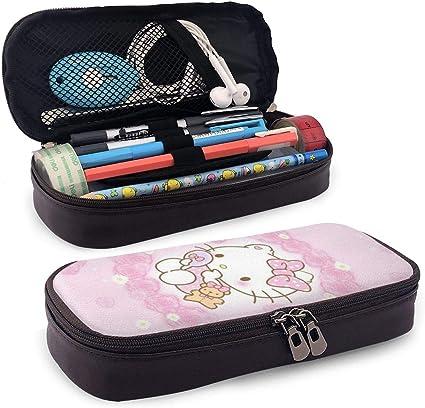 Hello Kitty - Estuche de piel para lápices, gran capacidad, con cremallera duradera para artículos de papelería y otros suministros escolares: Amazon.es: Oficina y papelería